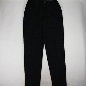 Vintage Lee Women's Elastic Waist Mom Jeans Black
